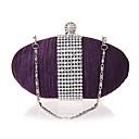 preiswerte Clutches & Abendtaschen-Damen / Mädchen Taschen Seide Abendtasche Kristall Verzierung Volltonfarbe Purpur
