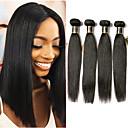 halpa Aitohiusperuukit-4 pakettia Brasilialainen Suora 100% Remy Hair Weave -paketit Hiukset kutoo Bundle Hair Aitohiuspidennykset 8-28 inch Luonnollinen väri Hiukset kutoo Pehmeä kuuma Myynti Paksu Hiukset Extensions
