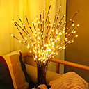 cheap LED String Lights-0.75m Flexible LED Light Strips String Lights 20 LEDs Warm White Decorative Batteries Powered 1pc