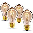 halpa Leivontavälineet-4kpl 40 W E26 / E27 A60(A19) Lämmin valkoinen 2300 k Retro / Himmennettävissä / Koristeltu Himmennetty Vintage Edison-hehkulamppu 220-240 V
