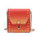 رخيصةأون حقائب كروس-نسائي أكياس PVC حقيبة كروس سحاب لون الصلبة أبيض / أسود / أحمر