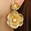 cheap Trendy Jewelry-Women's Active Cute Elegant Imitation Pearl Alloy Floral