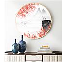 halpa Kehystetty taide-Kehystetty kanvaasi Painatteet - Abstrakti Maisema Puu Piirustus Wall Art