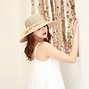 halpa Naisten hatut-Naisten Aktiivinen Perus söpö tyyli Aurinkohattu-Yhtenäinen Kukka Puuvilla Polyesteri Kevät Kesä Keltainen Khaki Vaaleansininen