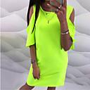 preiswerte Mode Uhr-Damen Hülle Kleid Solide Übers Knie