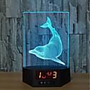 cheap Décor Lights-1pc 3D USB LED Lamp Dolphins Fish Room Decor 7 Color Change Visual Illusion 3D Night Light For Children Friend Gift
