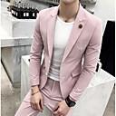 זול אביזרים לגברים-פוקסיה / ירקן / מרווה אחיד גזרה מחוייטת פוליאסטר חליפה - פתוח Single Breasted Two-button