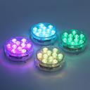 hesapli Su Altı Işıkları-1pc 5 W Sualtı Işıkları Su Geçirmez / Uzaktan kumandalı / Kısılabilir Değişim 1.2 V Vazolar ve Akvaryumlar için uygun 10 LED Boncuklar