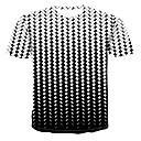 abordables Projecteurs-Tee-shirt Homme, 3D Imprimé Col Arrondi Rouge XXXXL