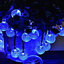 זול חוט נורות לד-10מ' חוטי תאורה 100 נוריות כחול דקורטיבי 220-240 V 1set