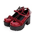 povoljno Lolita obuća-Punk Gotika Wedge Heel Cipele Jednobojni 8 cm CM Braon / Ink Blue / Srebrna Za Žene PU koža Halloween kostime