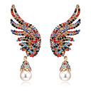 ราคาถูก ตุ้มหู-สำหรับผู้หญิง Cubic Zirconia Drop Earrings คลาสสิค โบฮีเมียน ต่างหู เครื่องประดับ ขาว / แอ็ช / แดง สำหรับ ทุกวัน เทศกาล 1 คู่