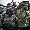Недорогие Армейские часы-Муж. Армейские часы Охотничьи часы Кварцевый Нейлон Черный / Синий / Зеленый 30 m Новый дизайн Повседневные часы Аналоговый На каждый день Мода - Черный Зеленый Синий Один год Срок службы батареи