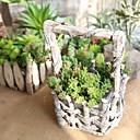 זול צמחים מלאכותיים-פרחים מלאכותיים 1 ענף קלאסי מודרני פסטורלי סגנון פרחים נצחיים צמחים עסיסיים פרחים לשולחן