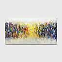 זול ציורים מופשטים-ציור שמן צבוע-Hang מצויר ביד - מופשט L ו-scape מודרני כלול מסגרת פנימית