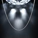 abordables Collar Hombre-Hombre Mujer Collares de cadena Clásico Clásico Básico Moda Cobre Plateado Plata 46,51,56 cm Gargantillas Joyas 1pc Para Diario Trabajo