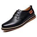 povoljno Muške oksfordice-Muškarci Udobne cipele Koža Jesen zima Oksfordice Crn / Plava