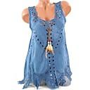 halpa Luomivärit-Naisten V kaula-aukko Ohut Puuvilla Katkaistu Yhtenäinen Tyylikäs Pluskoko - T-paita Punastuvan vaaleanpunainen