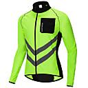 זול חולצות רכיבת אופניים-WOSAWE בגדי ריקוד גברים ג'קט לרכיבה ז'קט רוח בולם רוח אופניים ג'רזי מעיל גשם צמרות עמיד רצועות מחזירי אור כיס אחורי ספורט פוליאסטר ארוג שחור / כתום / ירוק רכיבת הרים רכיבת כביש ביגוד