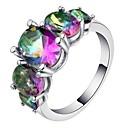 זול צמיד אופנתי-בגדי ריקוד נשים טבעת הטבעת טבעת זירקונה מעוקבת 1pc קשת נחושת Geometric Shape מסוגנן פאר ארופאי Party מתנה תכשיטים קלאסי מגניב