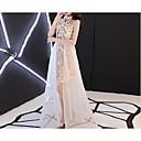 זול שמלות שושבינה-גזרת A קולר א-סימטרי טול / נצנצים שמלה עם נצנצים על ידי LAN TING Express