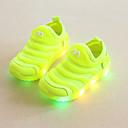 זול מוקסינים לילדים-בנים נעליים זוהרות בד גמיש נעלי ספורט פעוט (9m-4ys) / ילדים קטנים (4-7) ריצה / הליכה ירוק / כחול / ורוד קיץ / גומי
