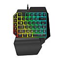 voordelige Innovatief-LITBest K15 USB bedraad gaming toetsenbord Mini Gaming Multi kleur achtergrondverlichting 35 pcs Keys