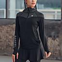 זול בגדי ריצה-בגדי ריקוד נשים עם רצועות איקס טלאים Jacket hoodie אימונית אלסטיין צווארון גבוה 3pcs ריצה כושר וספורט כושר אמון ספורט שמור על חום הגוף נושם ייבוש מהיר תומך זיעה חליפות בגדים שרוול ארוך לבוש אקטיבי