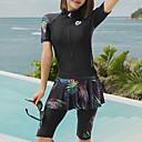 halpa Märkäpuvut, sukelluspuvut ja suoja-asut-JIAAO Naisten Skin-tyyppinen märkäpuku Sukelluspuvut Pidä lämpimänä Pitkähihainen Etuvetoketju - Uinti Yhtenäinen Kesä / Erittäin elastinen