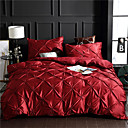 cheap High Quality Duvet Covers-Duvet Cover Sets Solid Colored / Contemporary Polyster Printed 4 PieceBedding Sets