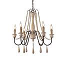 povoljno Lusteri-6 svjetla vintage luster / drvo privjesak svjetlo kafić rustikalna lampa za dnevnu sobu blagovaonica restoran svjetla / e12 / e14 bez žarulje