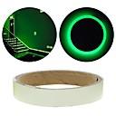 abordables Lumières de Décoration-fluorescence verte autocollant nuit bande de ruban lumineux décoration autocollant pour porte d'escalier voiture moto bande lumineuse de