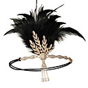 cheap Historical & Vintage Costumes-Vintage 1920s The Great Gatsby Costume Women's Flapper Headband Black / Red / Golden Vintage Cosplay Festival