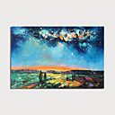 levne Abstraktní malby-Hang-malované olejomalba Ručně malované - Abstraktní Krajina Moderní Obsahovat vnitřní rám