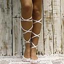 hesapli Kadın Atletik Ayakkabıları-Kadın's İnce Günlük Çoraplar - Solid Beyaz Siyah Tek Boyut