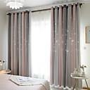 halpa Ikkunoiden verhot-Nykyaikainen Pimennys One Panel Curtain & Sheer Makuuhuone   Curtains