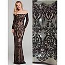 저렴한 Wedding Dress Fabric-아프리카 레이스 민속 풍 패턴 130 cm 폭 구조 용 신부 팔린 ~에 의해 5 야드