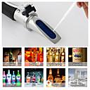 Недорогие Тестеры и детекторы-Рефрактометр алкоголя метр алкоголя метр 0 ~ 80% об. / об. ручной инструмент ареометр rz116 концентрация алкоголя тестер вина