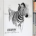 billige Vægklistermærker-kreativ personlighed zebra dekorationer væg klistermærker mode stue veranda klistermærker enkelt soveværelse studere selvklæbende væg klistermærker