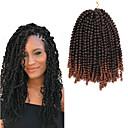 זול צמות שיער-שיער קלוע מתולתל צמות טוויסט אפר קינקי צם צמות מתולתלות שיער סינטטי 1pack שיער צמות צבע טבעי Report 12 סינטטי איכות מעולה שיער באונס ג'מייקני Party Halloween לבוש ליום צמות אפריקאיות / שיער אומבר