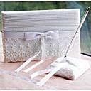 זול Building Blocks-ספר אורחים / סט עטים חתונה עם ריקמה ספר אורחים / סט עט