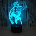 זול אורות 3D הלילה-1pc אור תלת ממדי / אור לילה לילד RGB USB החלפת צבעים / עם יציאת USB <5 V