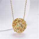 זול סטים של תכשיטים-בגדי ריקוד נשים שרשראות תליון קלאסי חוט Wire שִׂמְחָה אופנתי ציפוי זהב זהב 45+5 cm שרשראות תכשיטים 1pc עבור מתנה יומי