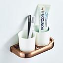 זול מחזיק מברשות שיניים-מחזיק למברשת שיניים יצירתי עכשווי / מודרני פליז / קרמי 1pc - חדר אמבטיה / אמבטיה מותקן על הקיר