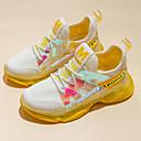 זול LED Shoes-בנות נוחות Flyknit נעלי אתלטיקה ילדים קטנים (4-7) / ילדים גדולים (7 שנים +) ריצה / הליכה צהוב / ורוד אביב / סתיו / גומי