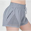 זול ביגוד כושר, ריצה ויוגה-בגדי ריקוד נשים מכנסי יוגה קצרים אופנתי ריצה כושר וספורט מכנסיים קצרים לבוש אקטיבי נושם רך תומך זיעה באט הרם מיקרו-אלסטי רזה
