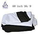 זול אביזרים למקרנים-16:9 60 אִינְטשׁ PVC מאקס לבן מסך על מעמד מהקיר