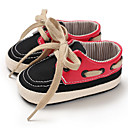 זול נעלי ספורט לילדים-בנים / בנות צעדים ראשונים קנבס נעלי ספורט תינוקות (0-9m) / פעוט (9m-4ys) קפה / שחור אדום / ירוק וכחול אביב / סתיו