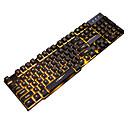 זול טלפון ואוזניות-LITBest GX USB חוטית מקלדת Gaming גיימינג עמיד למים תאורה אחורית מונוכרומטי 104 pcs מפתחות