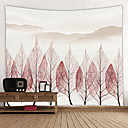 זול שטיחי קיר-נושאי גן / נושא פרחוני קיר תפאורה 100% פוליאסטר מודרני וול ארט, קיר שטיחי קיר תַפאוּרָה